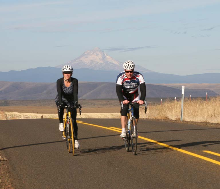 Cycling in Maupin, Oregon