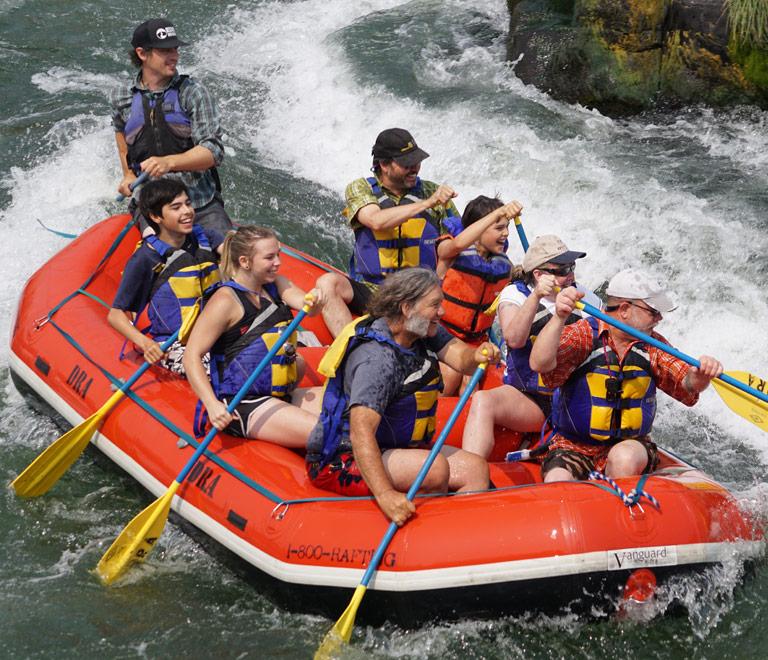 Rafting in Maupin, Oregon